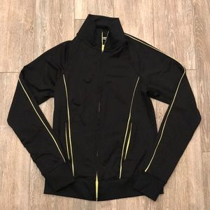 Black and green zip up